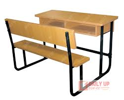 wood double school desk with bench primary school furniture list college school table bench attached