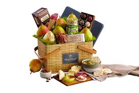 amazon harry david picnic basket pears cheese nuts and chocolate gift basket grocery gourmet food