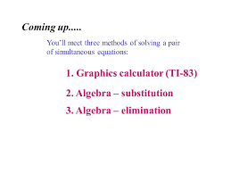 you ll meet three methods of solving a