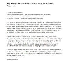 academic reference letter recommendation letter email request academic purposes sample just