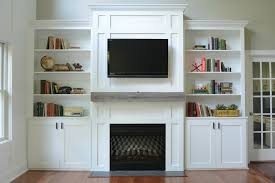 Wall Units, Stunning Built In Bookshelves And Cabinets Living Room Built In  Wall Units White