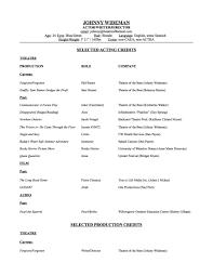 Acting Resume 2012 Johnny Wideman