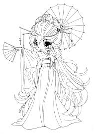 cute anime chibi girl coloring pages