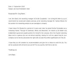 Recommendation Letter For A Job Position Vbhotels Co