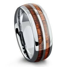 arcadia wedding band. 8mm silver tungsten koa wood ring with stripe arcadia wedding band 3