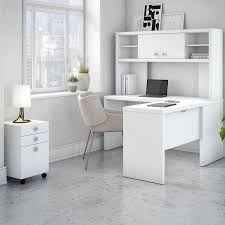 white l shaped desk with hutch. Contemporary Hutch Kathy Ireland Office By Bush Echo 3 Piece LShape Desk Suite U0026  Reviews  Wayfair Intended White L Shaped With Hutch C