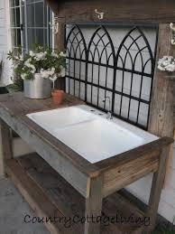 outdoor garden table with sink designs
