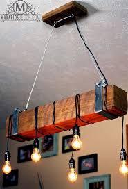 wood beam chandeliers free reclaimed wood