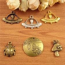 2019 <b>DIY Accessories</b> Bronze Animal Retro Small <b>Insect</b> Mushroom ...