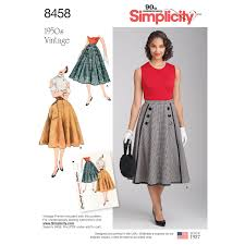 Simplicity Patterns Beauteous Simplicity Pattern 48 Misses' Vintage Skirts