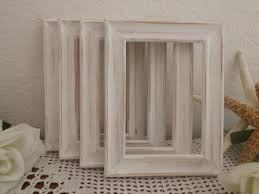 Diy Rustic Frame Wedding Table Number Frame White Rustic Shabby Diy Place Card