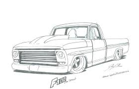 Truck Drawing Ford Truck Drawing By Truck Drawing For Kid ...