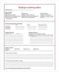 Employee Warning Letters Template Notice To Employee Under Fontanacountryinn Com
