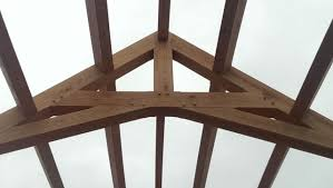 queenpost truss two posts sit on the bottom allowing a wider span than a kingpost additional braces and struts can extend the span her and