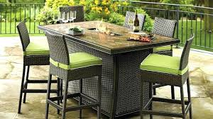 bar height outdoor table and chairs with fire pit patio dining set 4 luxury cool unique kitchen fas
