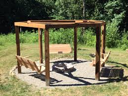 5 Swing Fire Pit We Built A Fire Pit Gazebo Swingset Album On Imgur