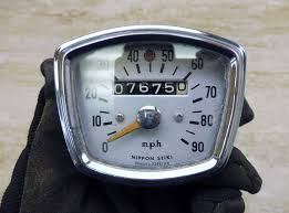 honda ca95 motorcycle parts 1966 honda ca95 benly baby dream h1420 speedometer speedo gauge