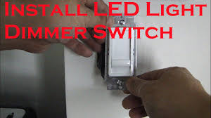 how to install led light dimmer switch youtube Light Dimmer Wiring Diagram how to install led light dimmer switch dimmer light switch wiring diagram