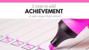 Achievement Resumes 5 Tips To Write Achievement Focused Resumes