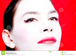 woman with white face powder