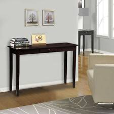 espresso entryway table. Wood Console Table Entryway Hallway Side Accent Sideboard Espresso