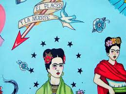 makeup bag with mexican fabric inside and out this pin up cosmetic bag features spanish