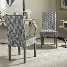 woven dining chairs lovely safavieh rural woven dining wheatley grey washed wicker dining of beautiful woven