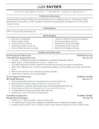 Resume Objective For Healthcare Wikirian Com