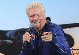 Richard Branson visited by fellow space ...