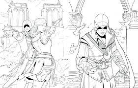 Assassins Creed Coloring Pages Assassins Creed Coloring Pages