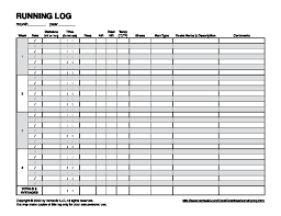 Printable Running Calendar Running Logs Printable Calendar Monthly