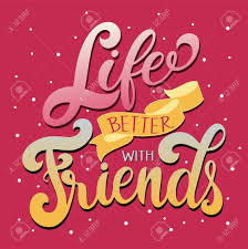Design With Friends Friendship Day Hand Drawn Lettering Life Better With Friends
