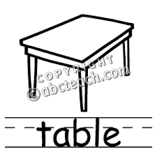 coffee table clipart black and white. pin table clipart b w #6 coffee black and white c