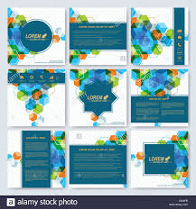 Pamphlet Designs For Stationery Shop Modern Vector Templates For Square Brochure Cover Layout