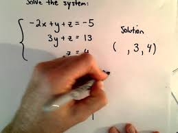 system of 3 equations 3 unknowns using substitution basic example