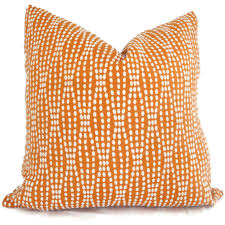 Pillow Cover Orange And White Reversible Dot Decorative