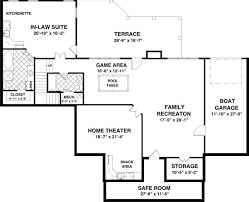 How To Design Basement Floor Plan Adorable Ranch House Plan With 48 Bedrooms And 4848 Baths Plan 48