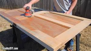 how to make a door coffee table