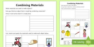 Education resources, designed specifically for help your child skyrocket in science with a little help from edplace. Combining Materials Matching Worksheet Matter Worksheets Properties Of Materials Chemical Science