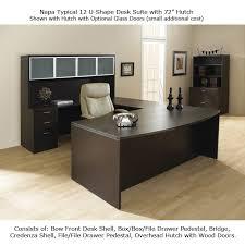 walnut office desks. U Shape Office Desk Suite W/Hutch 72inch X 113inch In Espresso/Urban Walnut Desks