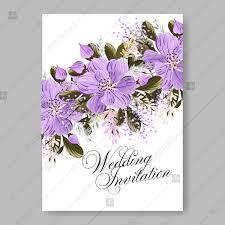 Wedding Invitations Templates Purple Purple Floral Wedding Invitation Invitation Template Chrysanthemum
