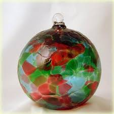 conway glass cathedral collection cranberry green blown glass ornament 5