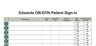 new patient forms medical office templates custom sign in log examples