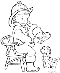 Small Picture Free Halloween fireman coloring page for kids Coloring Pages