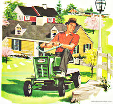 the great american mow down outdoor living spring and lawn care suburbia lawn mower 1958