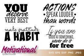 See more of free svg images on facebook. Motivational Quotes Bundle Vector Graphic By Saudagar Creative Fabrica