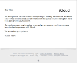Customer Service Apology Email Apple Sends Emailed Apologies For Icloud Outage Macrumors