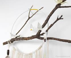 Tree Branch Dream Catcher How To Make Dreamcatcher With Branch And Origami Cranes [eskaa 4