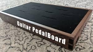 d i y walnut pedalboard build