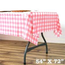 checd table cover red gingham plastic tablecloth round roll